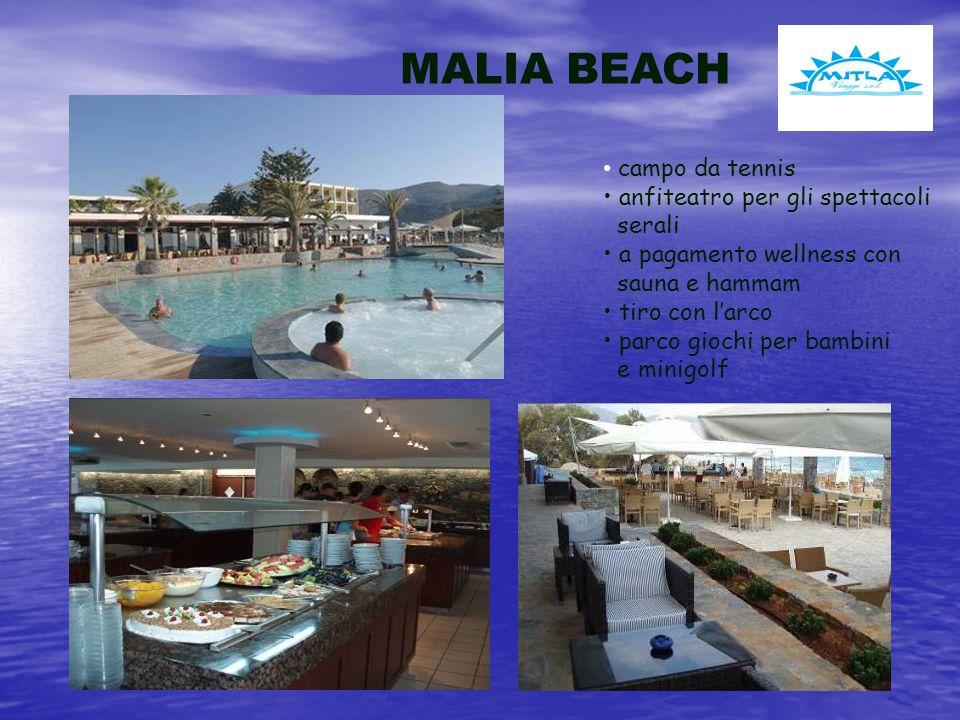 MALIA BEACH campo da tennis anfiteatro per gli spettacoli serali