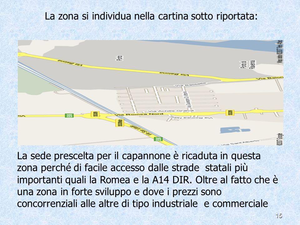 La zona si individua nella cartina sotto riportata: