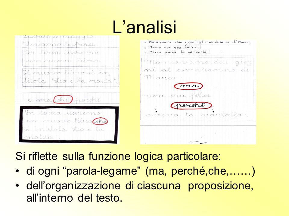 L'analisi Si riflette sulla funzione logica particolare: