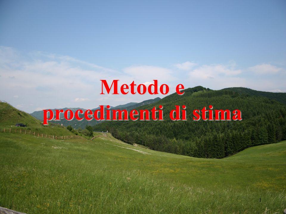 Metodo e procedimenti di stima