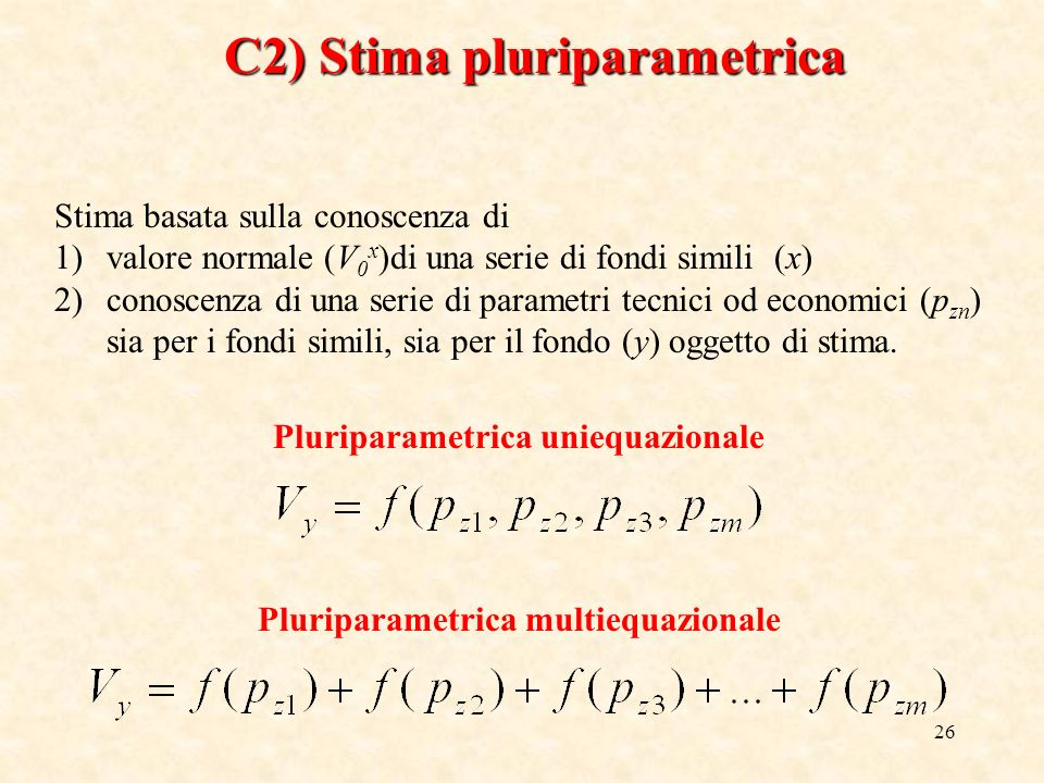 C2) Stima pluriparametrica