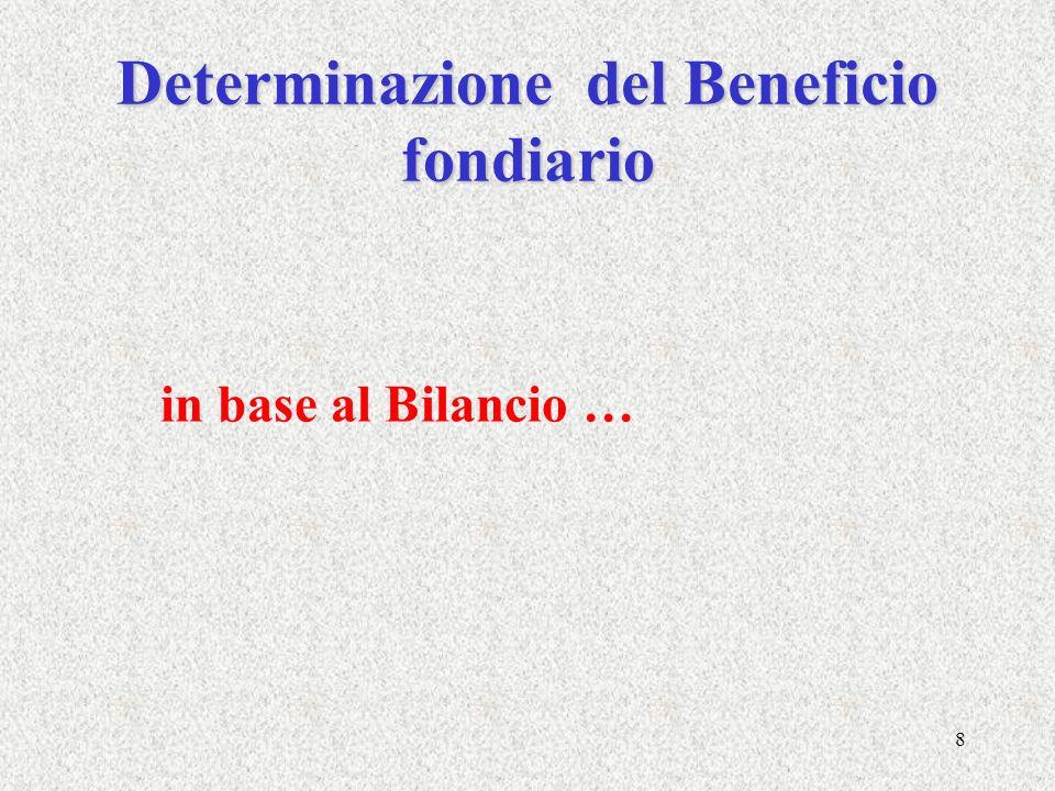 Determinazione del Beneficio fondiario