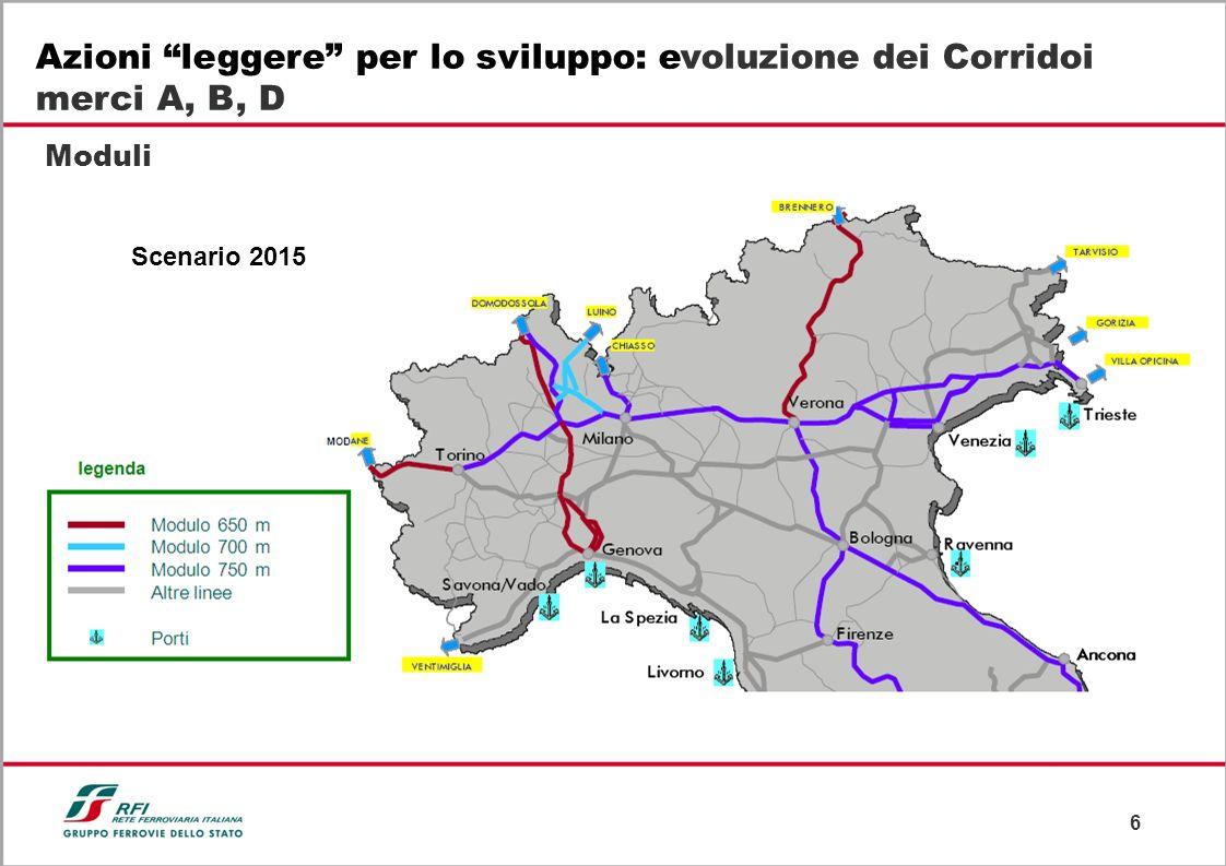 Azioni leggere per lo sviluppo: evoluzione dei Corridoi merci A, B, D