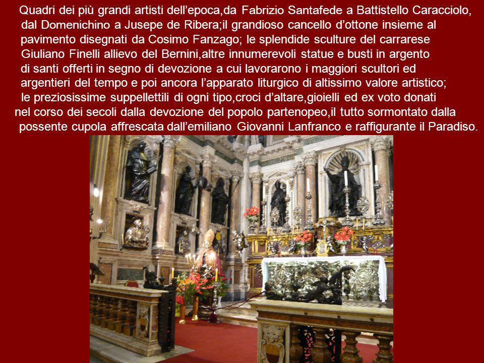 Quadri dei più grandi artisti dell'epoca,da Fabrizio Santafede a Battistello Caracciolo,
