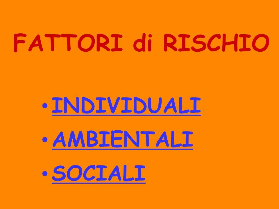 FATTORI di RISCHIO INDIVIDUALI AMBIENTALI SOCIALI 28