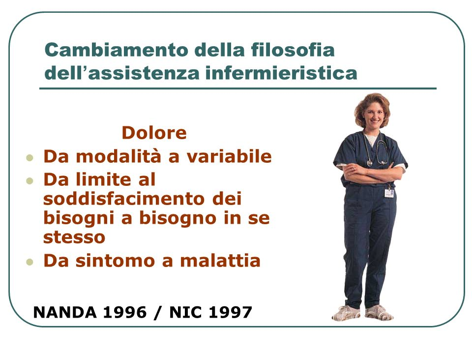 Cambiamento della filosofia dell'assistenza infermieristica