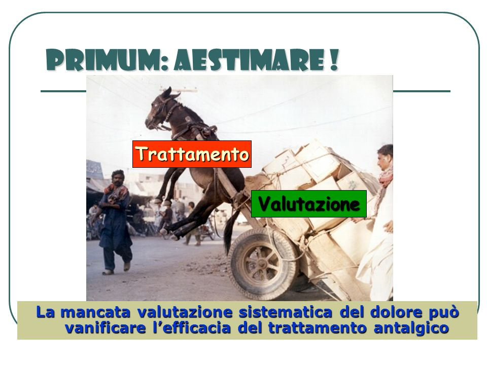 Primum: Aestimare ! Trattamento Valutazione