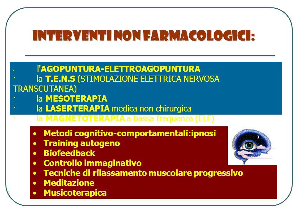 Interventi Non Farmacologici:
