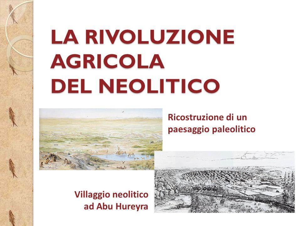 LA RIVOLUZIONE AGRICOLA DEL NEOLITICO