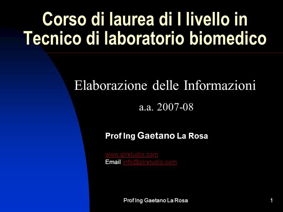 Corso di laurea di I livello in Tecnico di laboratorio biomedico