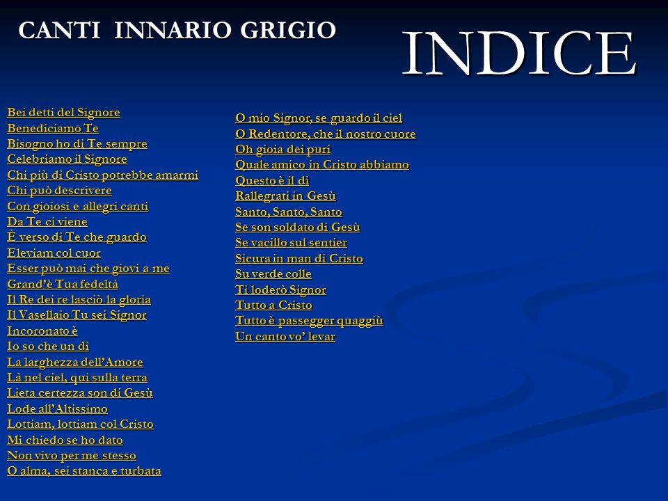 INDICE CANTI INNARIO GRIGIO