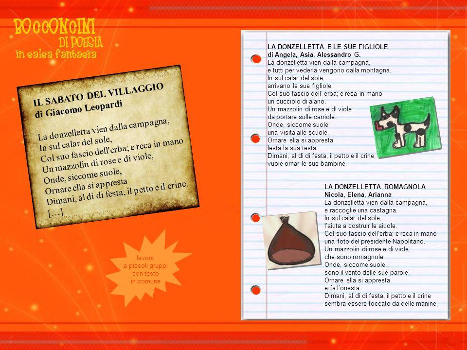 IL SABATO DEL VILLAGGIO di Giacomo Leopardi