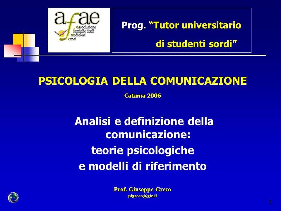 Prog. Tutor universitario di studenti sordi