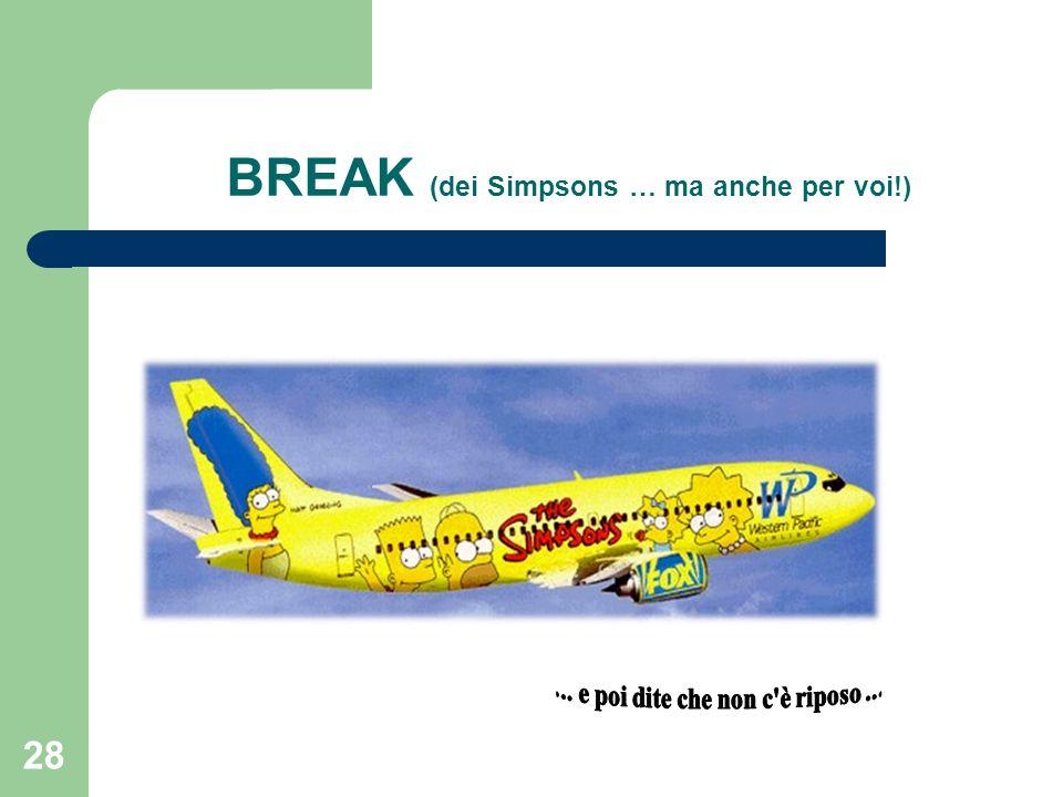 BREAK (dei Simpsons … ma anche per voi!)