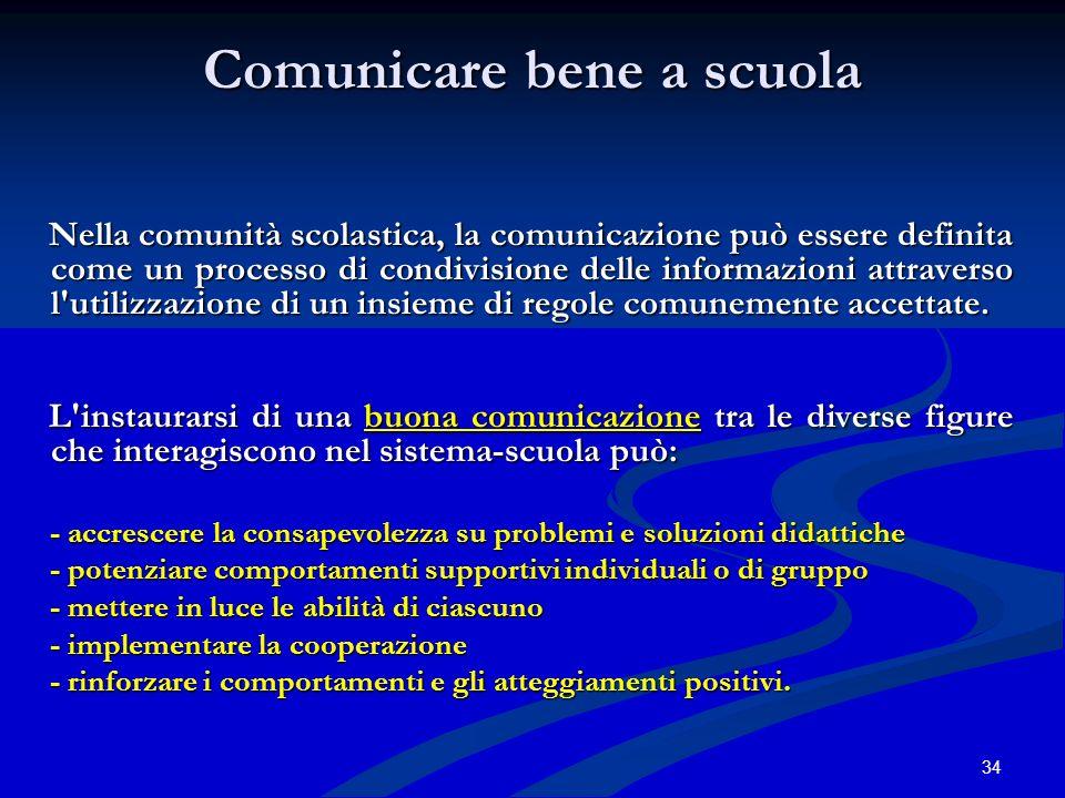 Comunicare bene a scuola