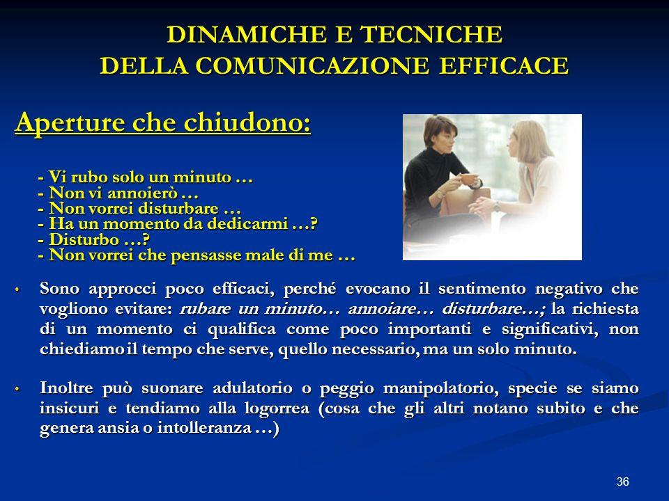DINAMICHE E TECNICHE DELLA COMUNICAZIONE EFFICACE
