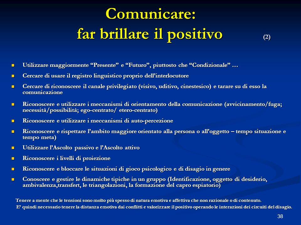 Comunicare: far brillare il positivo (2)