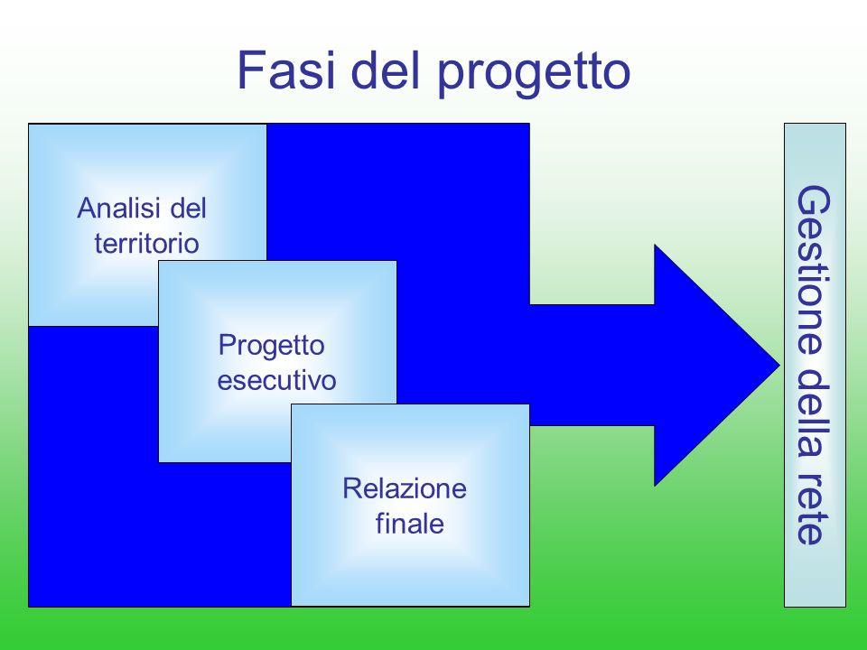 Fasi del progetto Gestione della rete Analisi del territorio Progetto