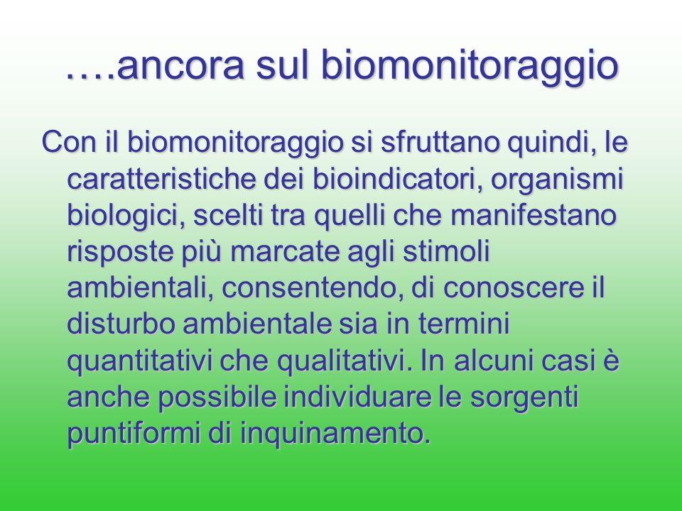 ….ancora sul biomonitoraggio