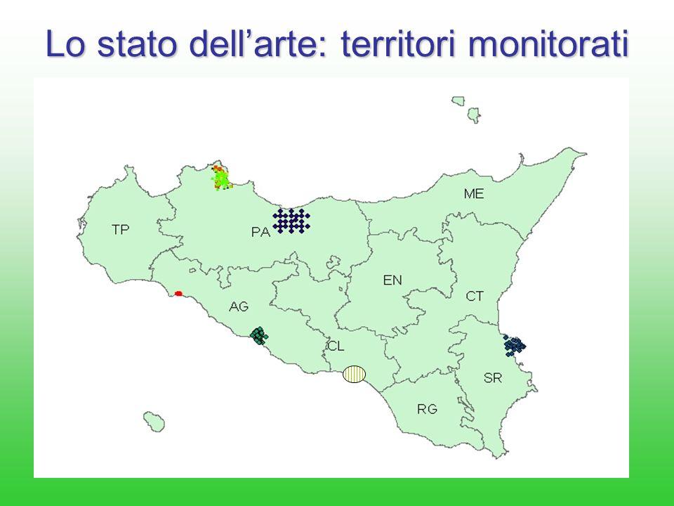 Lo stato dell'arte: territori monitorati