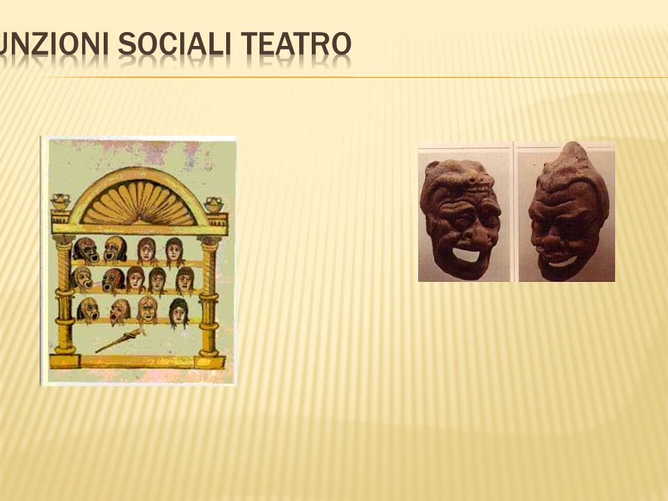 Funzioni sociali teatro
