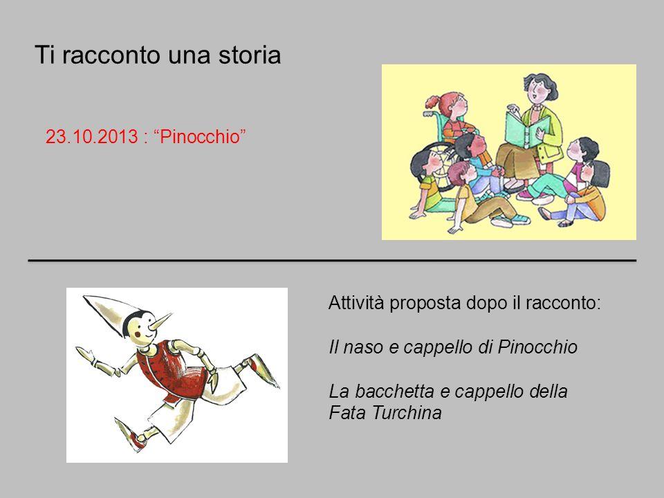 Ti racconto una storia 23.10.2013 : Pinocchio