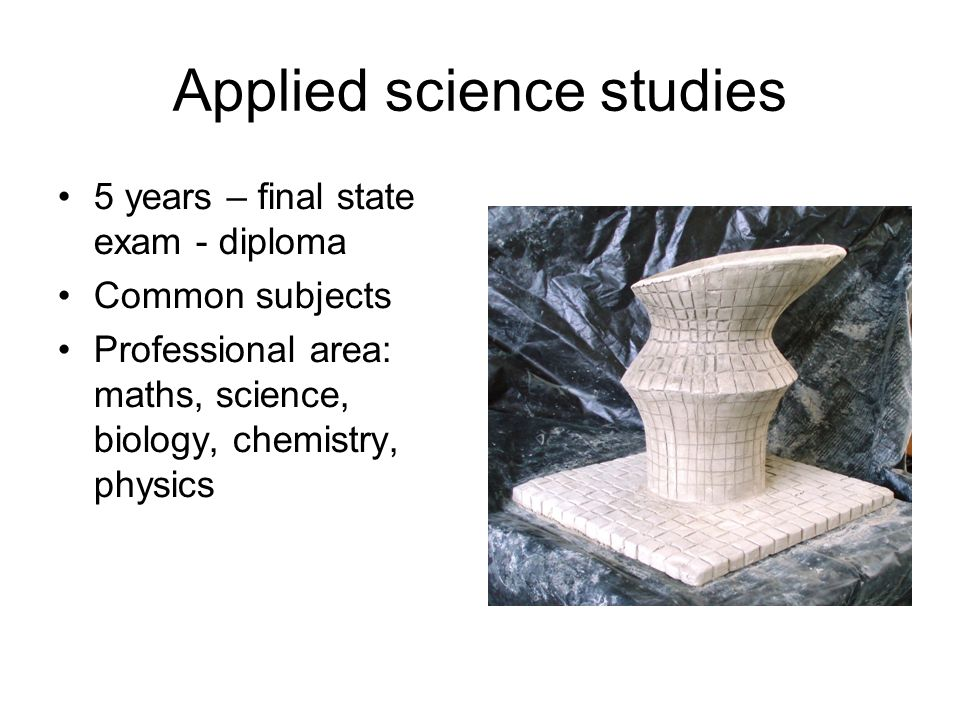 Applied science studies