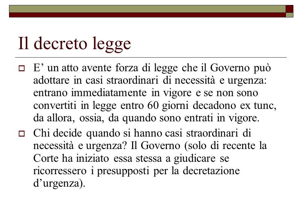 Il decreto legge
