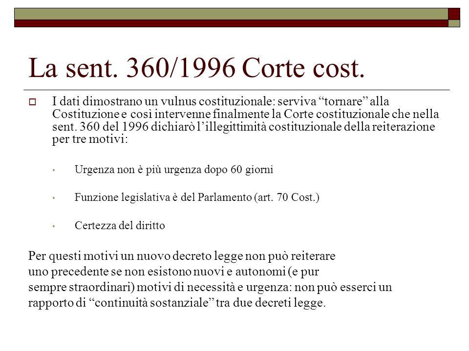 La sent. 360/1996 Corte cost.