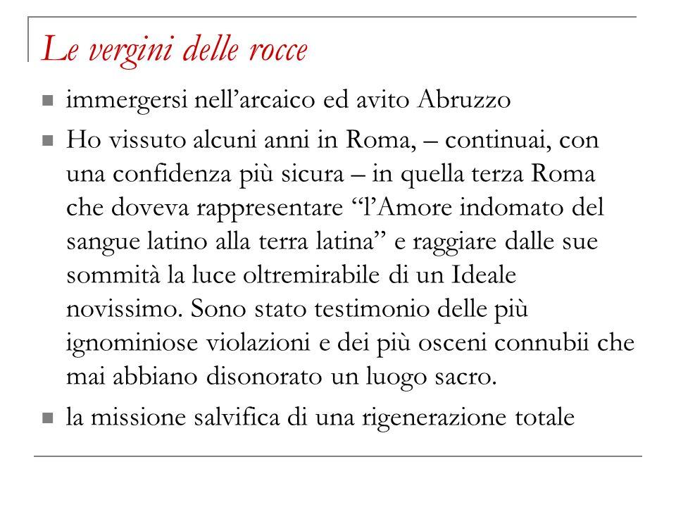 Le vergini delle rocce immergersi nell'arcaico ed avito Abruzzo