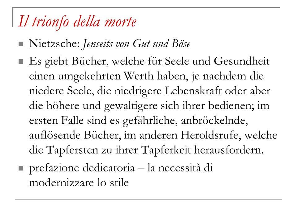 Il trionfo della morte Nietzsche: Jenseits von Gut und Böse