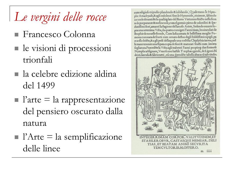 Le vergini delle rocce Francesco Colonna