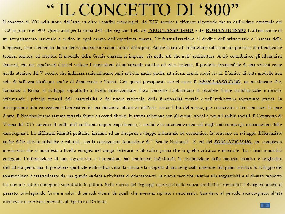 IL CONCETTO DI '800