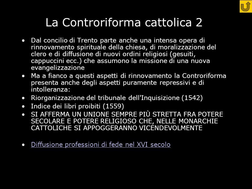 La Controriforma cattolica 2