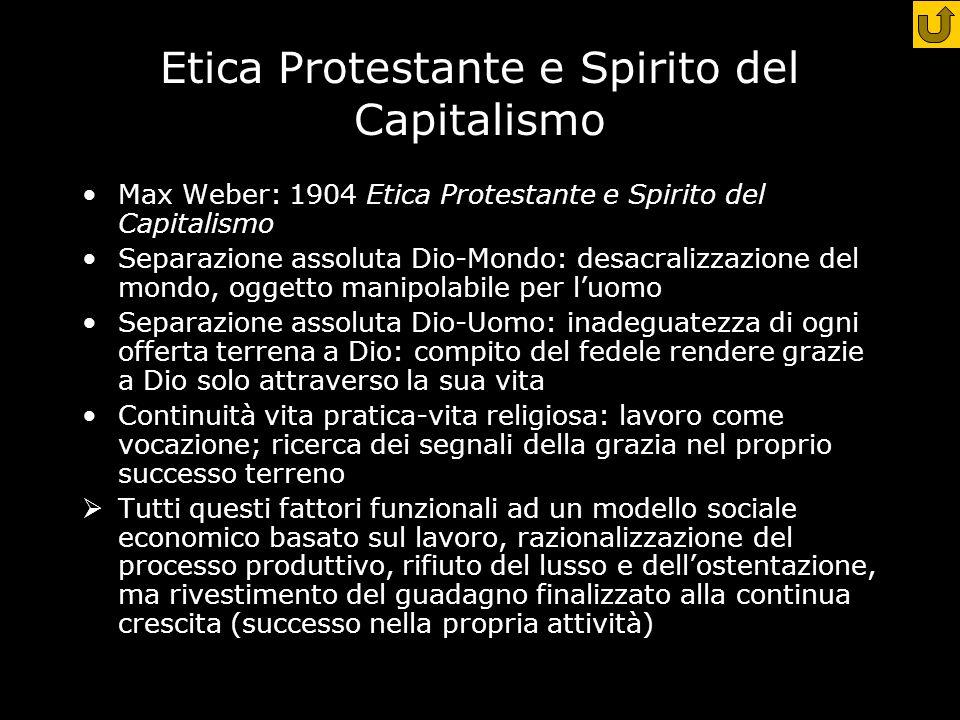 Etica Protestante e Spirito del Capitalismo