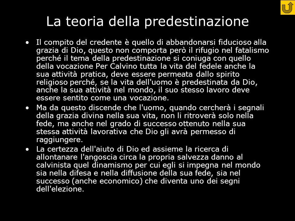La teoria della predestinazione