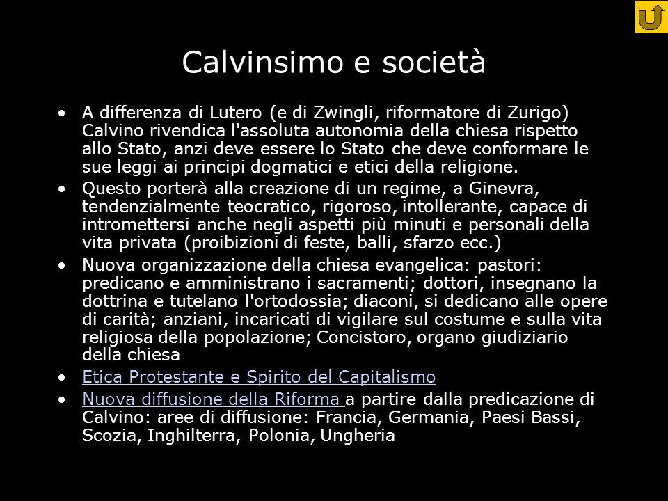 Calvinsimo e società