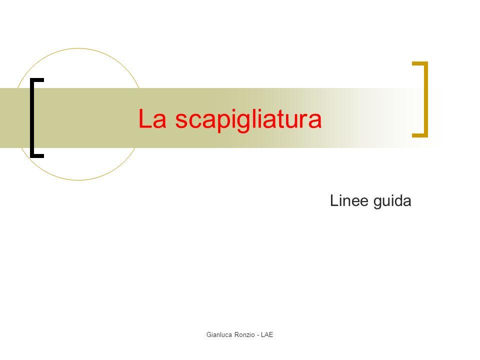 La scapigliatura Linee guida Gianluca Ronzio - LAE