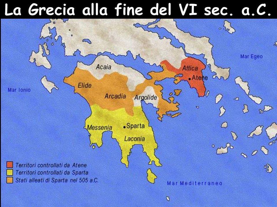 La Grecia alla fine del VI sec. a.C.