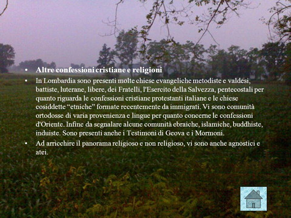 Altre confessioni cristiane e religioni