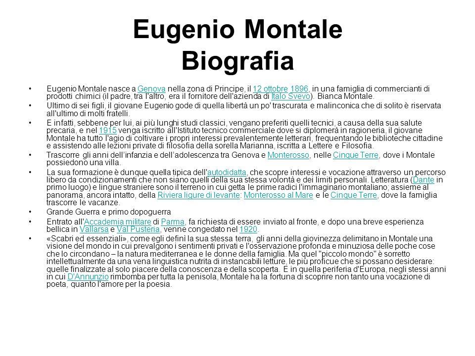 Eugenio Montale Biografia
