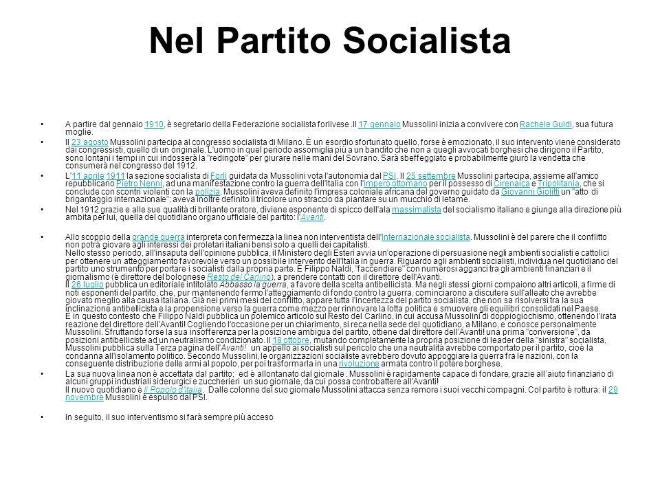 Nel Partito Socialista