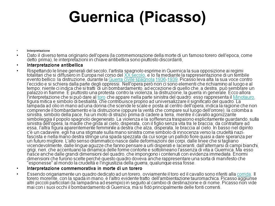 Guernica (Picasso) Interpretazione.