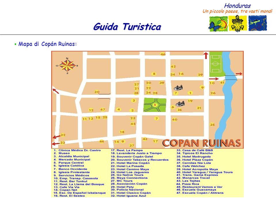 Mapa di Copán Ruinas: