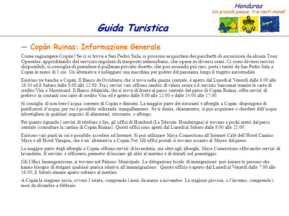 Copán Ruinas: Informazione Generale