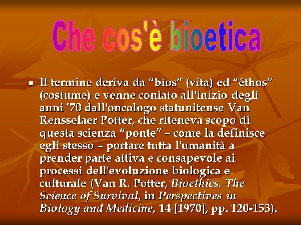 Neologismo americano bioethics dall oncologo r van - Zanzibar medicine da portare ...