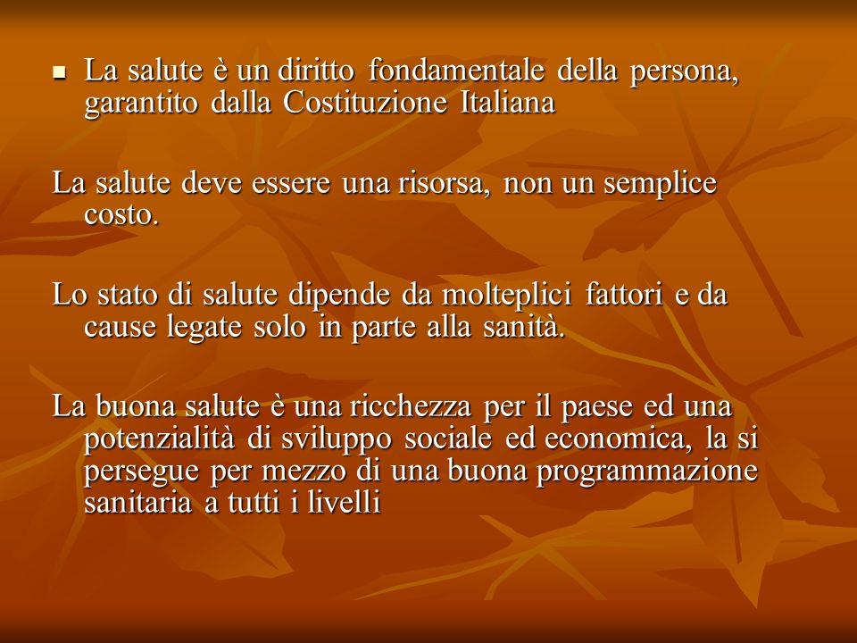 La salute è un diritto fondamentale della persona, garantito dalla Costituzione Italiana