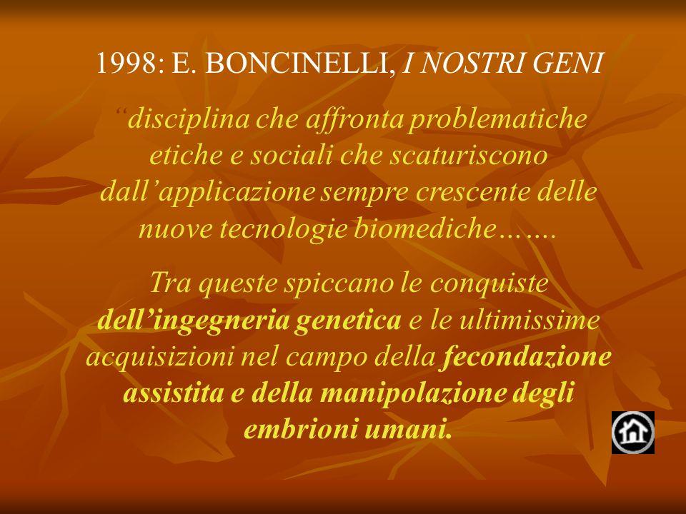 1998: E. BONCINELLI, I NOSTRI GENI