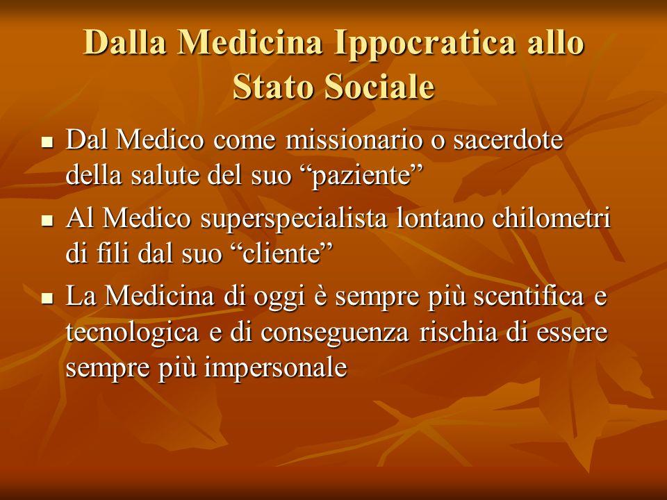 Dalla Medicina Ippocratica allo Stato Sociale
