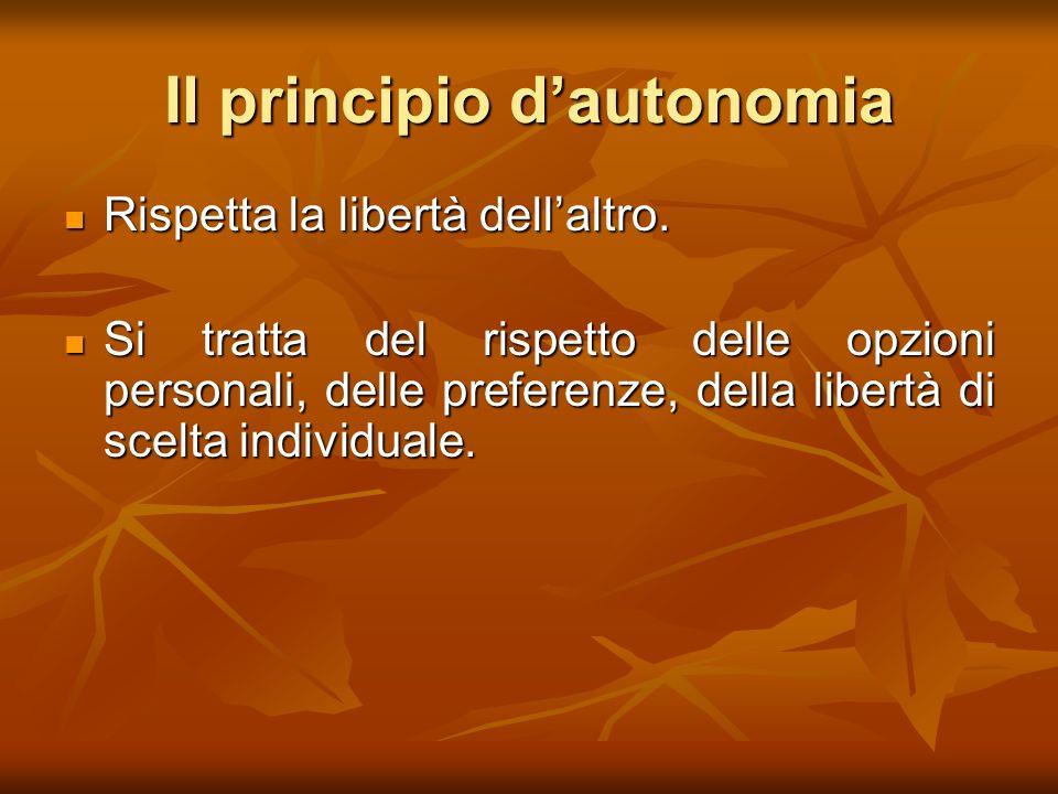 Il principio d'autonomia